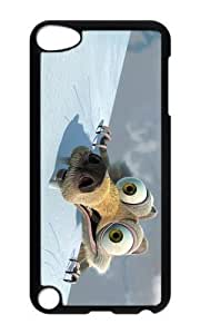 Ipod 5 Case,MOKSHOP Cute Funny Scrat Hard Case Protective Shell Cell Phone Cover For Ipod 5 - PC Black