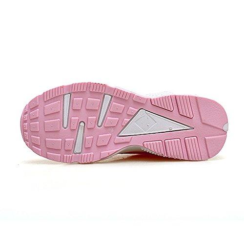 deporte deporte malla Zapatos caminar Zapatillas transpirables mujer de Zapatillas para de verano pink de casual para de atléticos 4XqO1