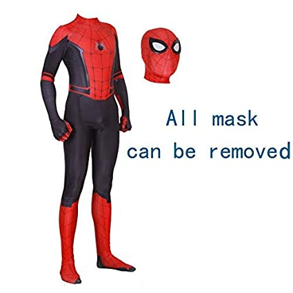 MYanimec Unisex Lycra Spandex Zentai Halloween 2019 New far from Home New Spiderman Cosplay Costumes Suit Adult/Kids 3D Style