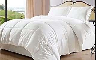 Web Linens Inc Oversized-Reversible Solid & Striped-Down Alternative Comforter with Corner Tabs-Queen - Exclusively by BlowOut Bedding RN #142035 (B00N46TKL2) | Amazon price tracker / tracking, Amazon price history charts, Amazon price watches, Amazon price drop alerts