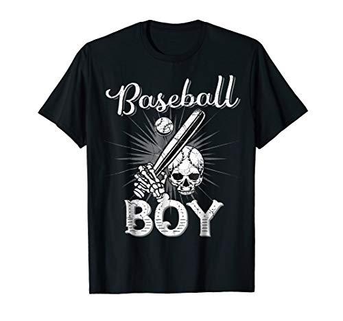 Baseball Boy Skull Bat Shirt Gifts for Son