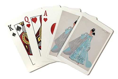 [Josephine Baker costume design Vintage Poster (artist: Bertaux) France (Playing Card Deck - 52 Card Poker Size with Jokers)] (Las Vegas National Costume)