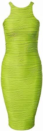 فستان بودي كون نسائي بطول متوسط  من دوبلس - اخضر، L