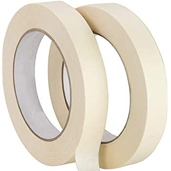 No-Residue 1 Inch, 60 Yard Masking Tape 2 Pk. Easy-Tear, Pro-Grade Removable Painters Tape Great for Home, Office or Commercial Contractor. Clean, Drip-Free Painting with Wide Crepe Paper Rolls