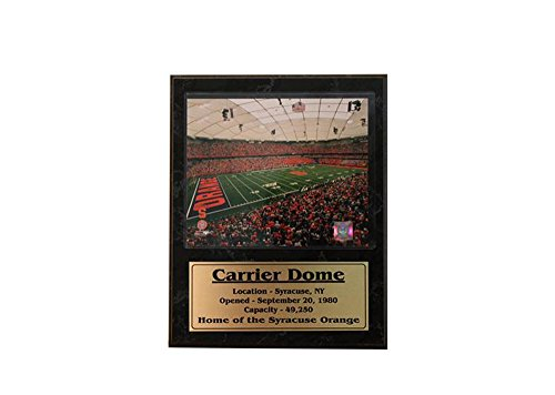 Encore Select 524-35 NCAA Syracuse Orange Carrier Dome Stat Plaque with Photo, 12-Inch by -