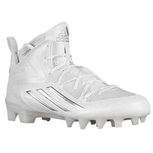Image of adidas Men's Crazyquick 2.0 Mid Football Cleats (12, White/Platinum/White)