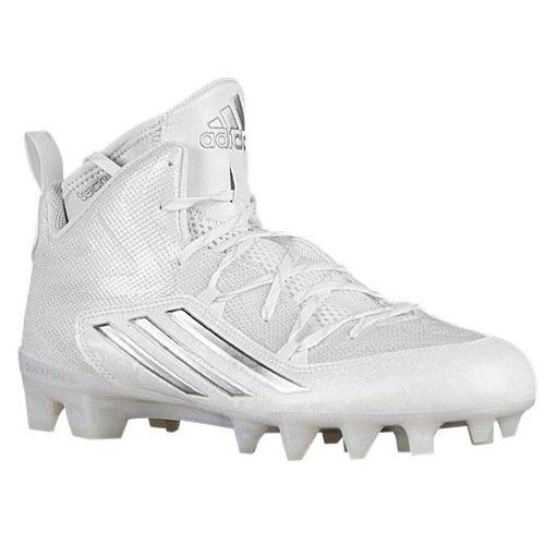 adidas Mens Crazyquick 2.0 Mid White/Platinum/White Sneaker 10 D (M)