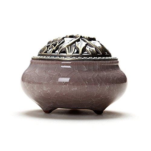FAERIE Colorful Porcelain Incense Burner Ceramic Cone Incense Burner Holder Buddhist (E) - Fountain Floor Dragonfly
