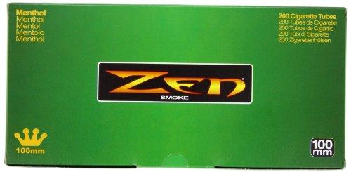 1 Box - 200pc Zen 100mm Menthol Cigarette Tubes
