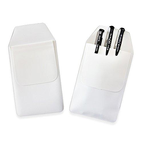 TKOnline 12 Pcs White Classical Heavy Duty Pocket Protectors for Pen Leaks School Hospital Office Supplies by TKOnline (Image #1)