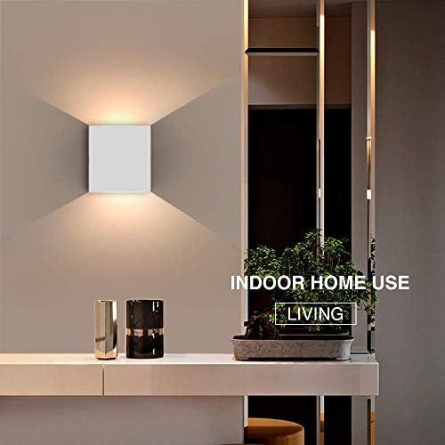 para sal/ón cocina 2 l/ámparas de pared LED de 6 W Up Down para interior blanco c/álido de aluminio dormitorio tiempo de entrega 6 /– 9 d/ías modernas cuarto de ba/ño