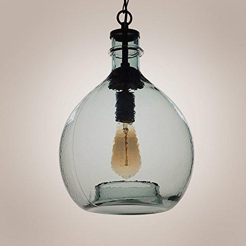 Wavy Hammered Hand Blown Glass Pendant Light, 1 hanging Light, 11'' diameter, Gray (11' Outdoor Pendant)
