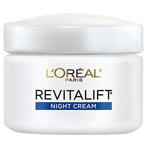 Night Cream by L'Oréal Paris Skin Care, Revitalift Anti-Wrinkle & Firming Night Cream Face Moisturizer with Pro-Retinol, Paraben Free, 2.55 oz.
