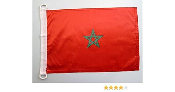 AZ FLAG Bandera Nautica de Marruecos 45x30cm - Pabellón de ...