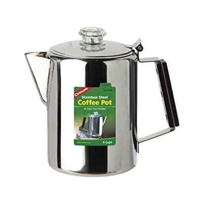 Coghlan's 9-Cup Stainless Steel Coffee Pot, Silver