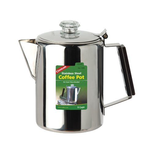Coghlan's 9-Cup Stainless Steel Coffee Pot, Silver by Coghlan's