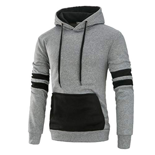 ❤️NEARTIME Men Hoodies Blouse, 2018 Spring/Autumn Clearance Men's Long Sleeve Casual Sweatshirt Splicing Pocket Sports Coat