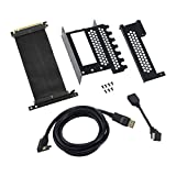 CableMod Vertical PCI-e Bracket - HDMI + DisplayPort - Black