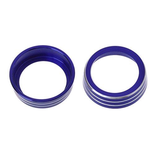 Blue Aluminum Ring Knob Trim Cover For 2016-2018 Honda Civic Sedan Hatchback