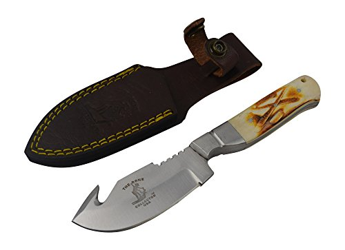 Bone Collector Fixed Blade Hunting Gut Hook Bowie Skinning Knife BC804