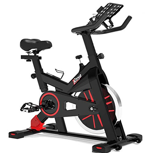 TRYA Indoor Cycling Bike Stationary, Exercise Bike for Home Cardio Gym, Workout Bike with 35 Lbs Flywheel & Thickened…