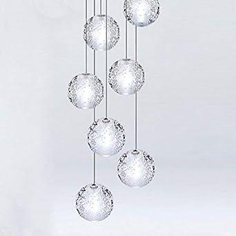 CARYS LED Plafonnier En Cristal Moderne Gouttelette Lustre Éclairage  Plafond Luminaire Suspension Luminaire 7 Light