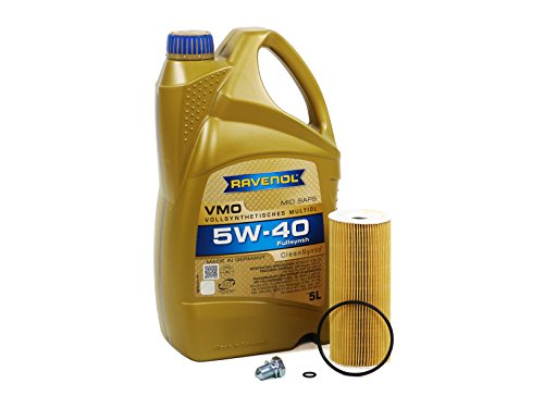 Blau J1A5003-B VW Golf IV Motor Oil Change Kit - 2004-06 w/4 Cylinder 1.9L TDI Diesel Engine Code BEW (PD) -