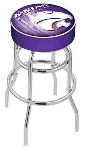 Chrome Seat Ring Bar Stool (Holland Bar Stool Officially Licensed L7C1 Kansas State University Swivel Bar Stool, 30