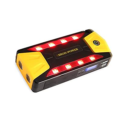 600A 82800mAh multi-function emergency Car Jump Starter 12V with USB fast charging Built-in LED lighting with safety hammer, seat belt cutter, compass