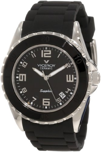 Viceroy Women's 47564-55 Black Ceramic Date Rubber Watch