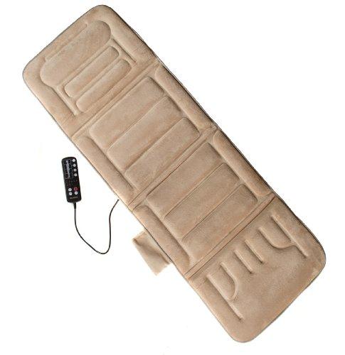 Relaxzen 60-2907P08 10-Motor Massage Standard Mat with Heat, Beige