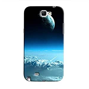Cover It Up - Blue Planets from Space Galaxy Note 2 N7100 Hard Case