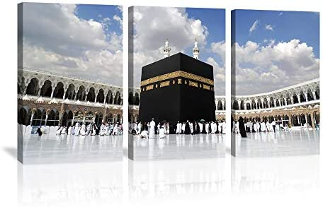 KALAWA 3 Piece Islamic Religion Canvas Wall Art Painting Posters Prints Pictures
