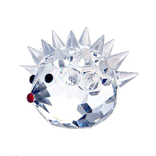 Wall of Dragon Cute Artificial Glass Crystal Hedgehogs Figurines Crafts Art&Collection Table Car Ornaments Souvenir Home Decor