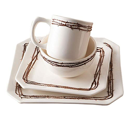 Barbwire 16Pc Dinnerware Set -