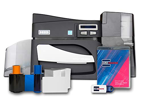 e side ID Card Printer & Supplies Bundle with Card Imaging Software ()