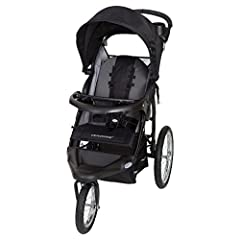 """The Baby Trend Expedition RG Jogger is the perfect workout companion for you and your little one. The 16"""" all terrain bicycle tires provide a smooth ride and the front wheel locks when you're ready to run. The Expedition features a multi-posi..."""