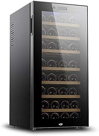 CLING Refrigeradores para vinos 78 litros Refrigeración rápida 32 Botellas Bajo Nivel Ruido y sin Niebla Refrigerador Espejo protección templada Doble Capa Iluminación LED Integrado o Independiente