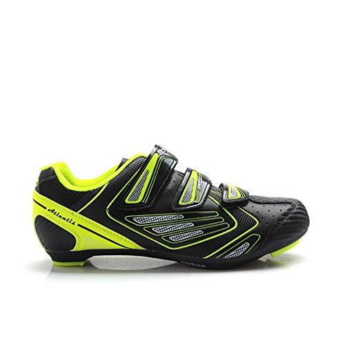 Tiebao New Road Cycling Schuhe für Männer Selbstsichernde rutschfeste Breathable Riding Shoes Gelb