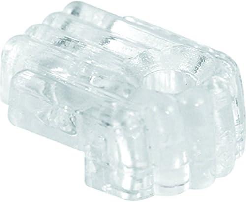 prime-line製品mp9002ミラークリップ、1/ 8in。オフセット、プラスチック構造、クリアカラーで、IncludesインストールFasteners、50パック