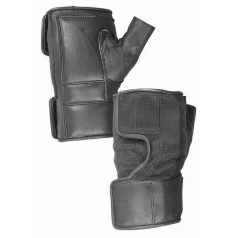 (Hatch WC100 Wheelchair Quad Push Gloves – Leather Palm, Large – X-Large, Black)