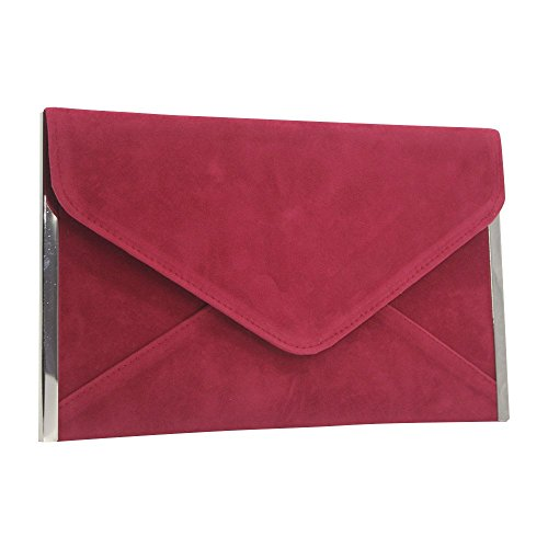 Pink Cocktail Envelope Evening Women Wiwsi Chain Red Wedding Party Clutch Hot Dark Handbag Bag New Za7wwqB