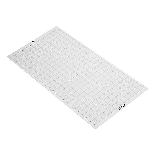 (Walmeck Old Fox Replacement Cutting Mat Transparent Adhesive Mat with Measuring Grid 12 24 Inch for Silhouette Cameo Cricut Explore Plotter Machine)