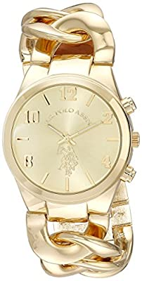 U.S. Polo Assn. Women's USC40069 Analog Display Analog Quartz Gold Watch