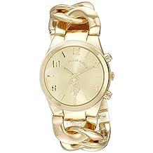 Reloj U.S. Polo Assn. para Mujer 38mm, pulsera de Acero Inoxidable