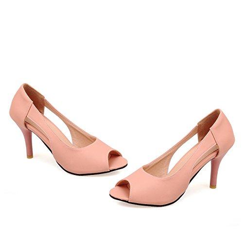 Zapatos Toe Morazora De Mujer Alto VIVIOO Poco De Zapatos 43 34 Elegantes Pink Tacón Gran Mujeres Profundas Nuevas Verano La De De Sólidos Llegada 2018 De Moda Bombas Peep Zapatos Tamaño EPUpxUCwq