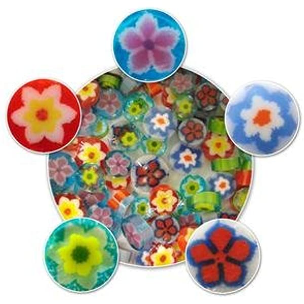 Amazon Com Flower Millefiori Assortment 96 Coe Arts Crafts Sewing