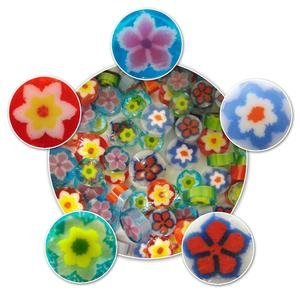 Millefiori Flower - Flower Millefiori Assortment Murrine- 96 COE - made from System 96 glass - 1/2 oz Bag
