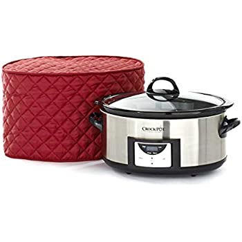 Covermates - Slow Cooker Cover - 17W x 12D x 17H - Diamond Collection - 2 YR Warranty - Year Around Protection - Red