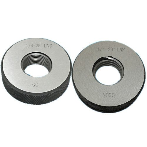 1/4-28 UNF thread ring gage 2A GO NOGO 100% calibrated ship by Fedex Delivery in 4 days ()